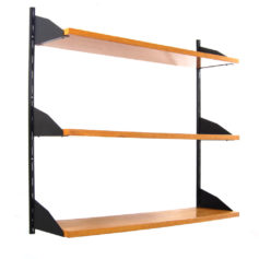 Sixties shelf vintage wooden wall unit