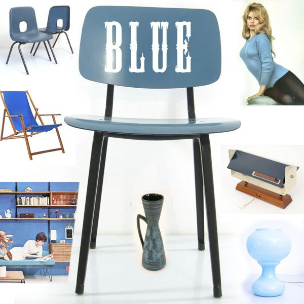 blue viintage furniture