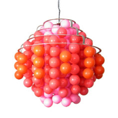 "70s ""fun type H"" ball lamp XL size in the style of Panton"
