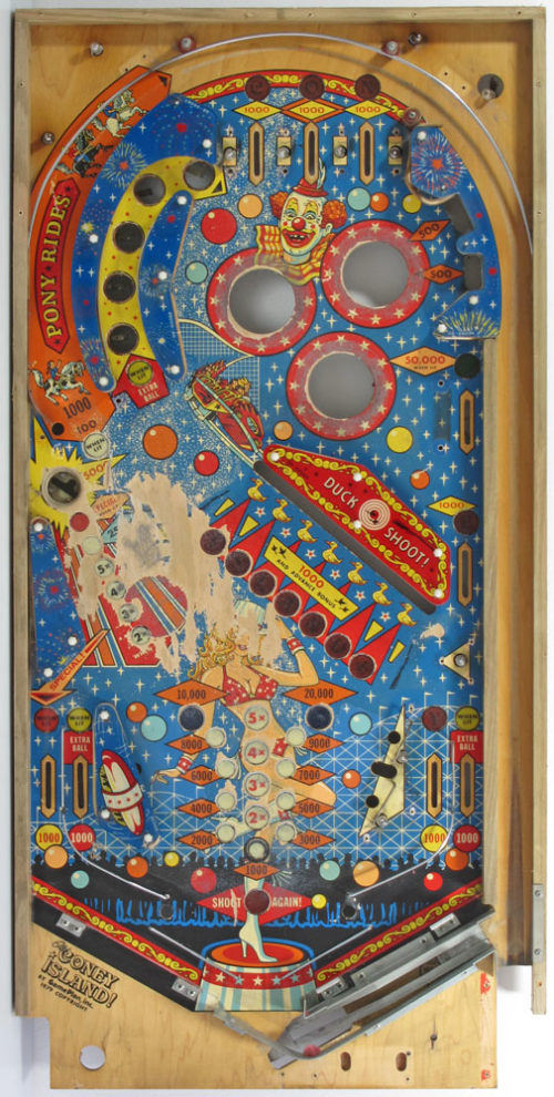 "70s pinball flipperkast - cool vintage design art from the seventies ""Old Coney Island"" retro, disco, arcade game, machine, flippers"