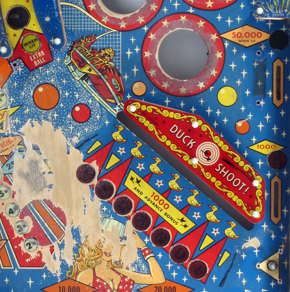 70s Pinball Old Coney Island Arcade Game Sold Bdf