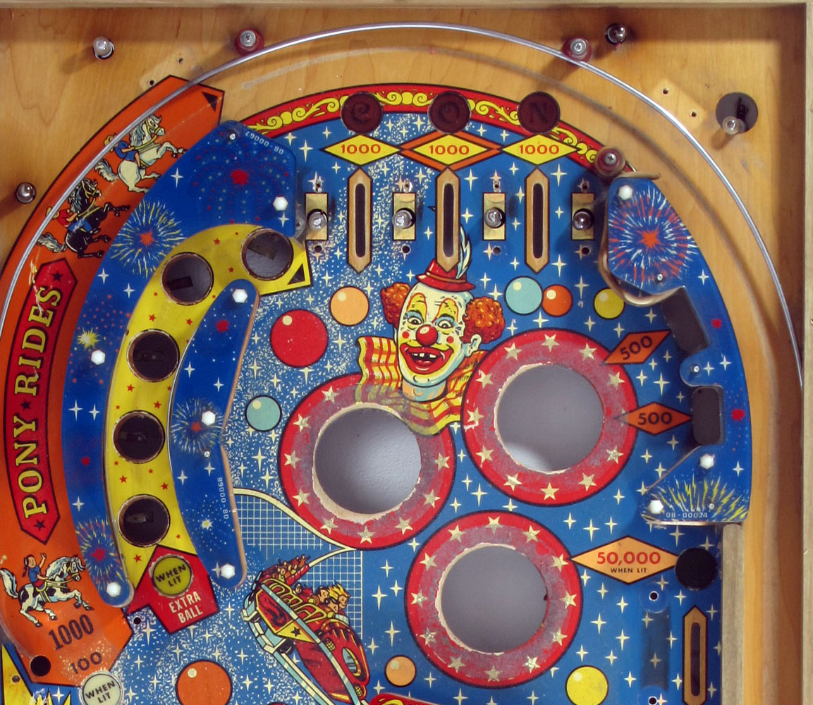 """70s pinball flipperkast - cool vintage design art from the seventies """"Old Coney Island"""" retro, disco, arcade game, machine, flippers"""