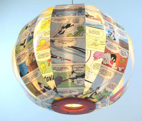 Sylvester & Tweety – comic book lamp
