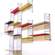 Large modernistic Tomado shelf system Mategot style