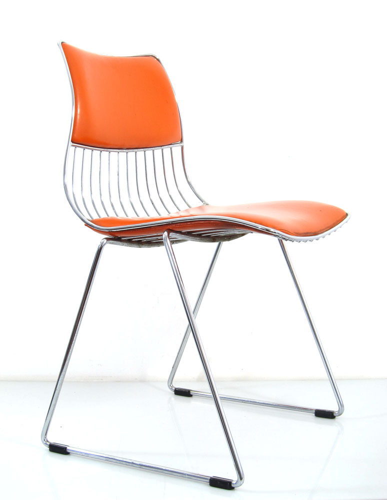 70s rudi verelst orange chair for novalux bom design for Bom design furniture