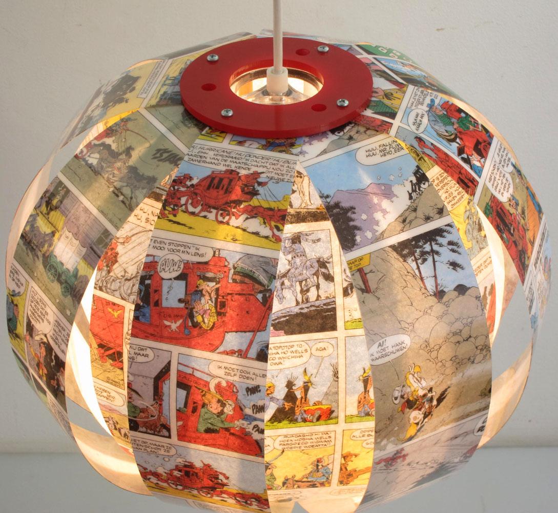 Lucky Luke Comic Book Lamp Recycled Design Bdf