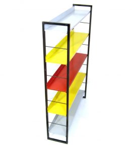 Tomado vintage metal wall unit 1950s dutch design by D. Dekker