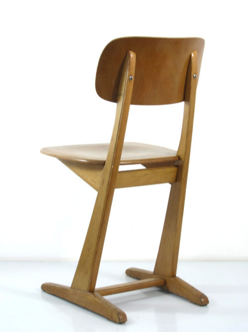 Casala wooden sixties modern plywood school chairs