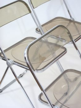 Plia chairs by Giancario Piretti for Castelli