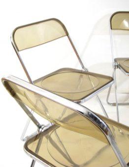 6 Giancario Piretti vintage sixties Castelli Plia chairs -sixties, eames, design, perriand, jacobsen, jean prouve, wegner, alvar aalto, juhl