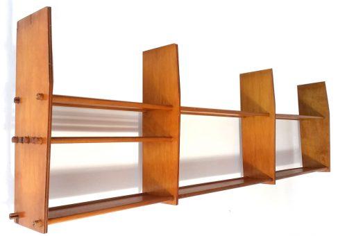 Mid-Century Plywood Kitchen Shelf Unit, 1950s, Tomado, Pilastro, Poul Cadovius, String, Finn Juhl