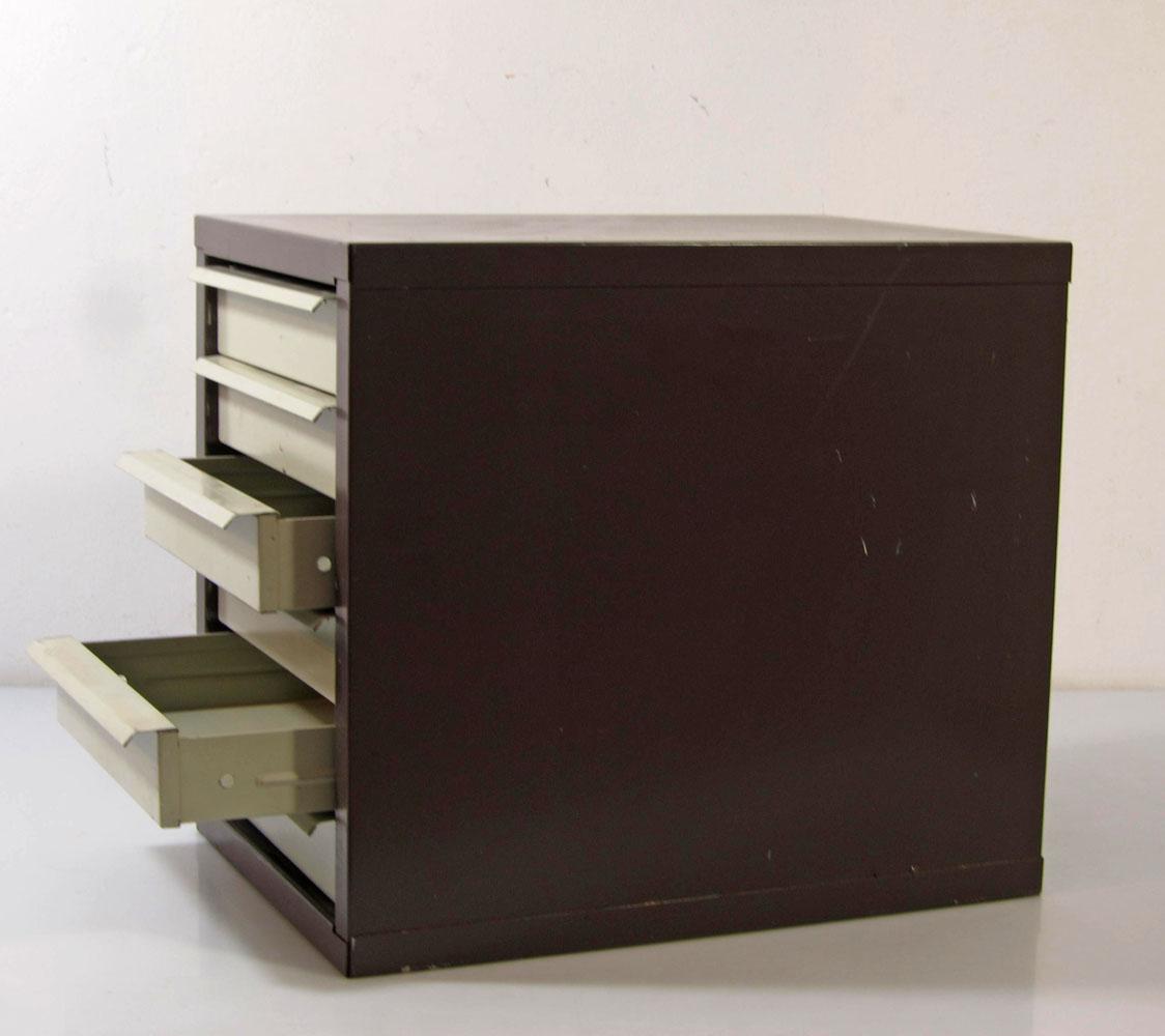 Industrial vintage metal drawers