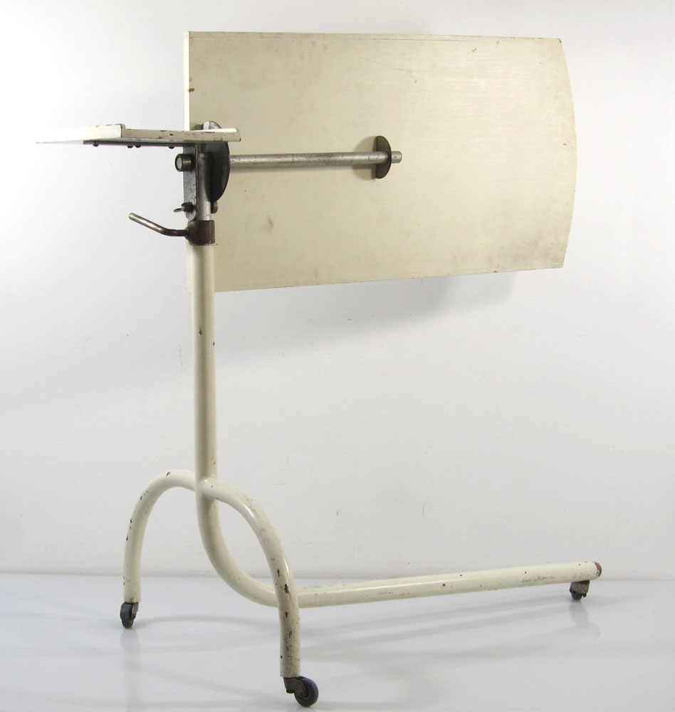 vintage hospital, artists studio stand