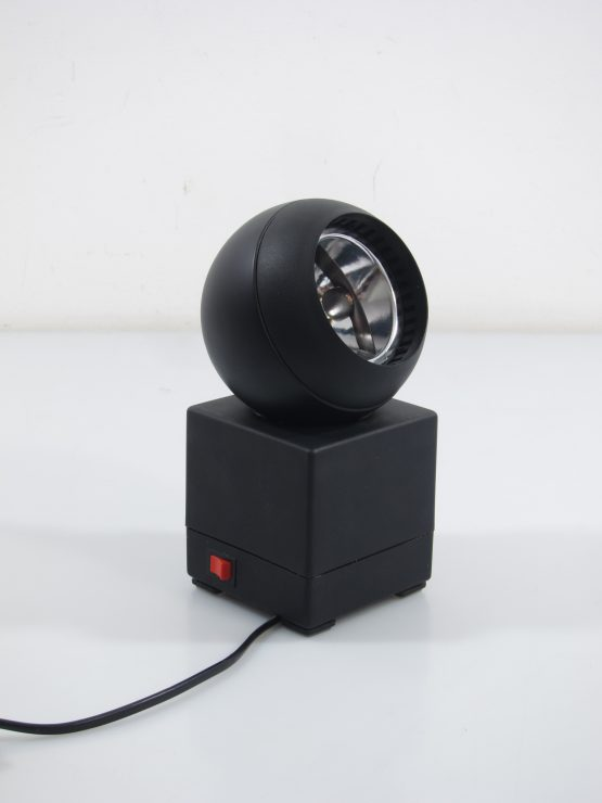 Large Black vintage seventies OSRAM table lamp by Schlagheck Schultes; Jacob Jensen, Braun, Dieter Rams, Sottsass, Olivetti, Joe Colombo-4
