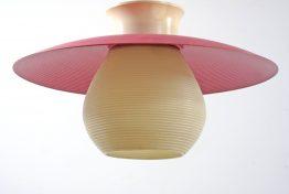 Louis Kalff, Philips pink ceiling lamp, fifties, sixties, vintage, eames, retro, Mategot, Biny, Jean Prouve, Evans, Serge Mouille style