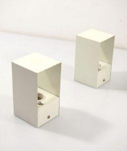 Philips 1960s vintage minimal metal wall lamps, louis kalff, jean prouve, serge mouille