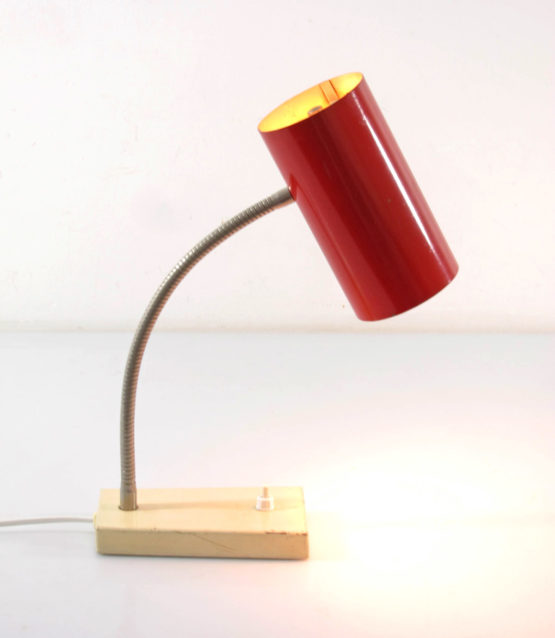 Gino Sarfatti style vintage metal table lamp