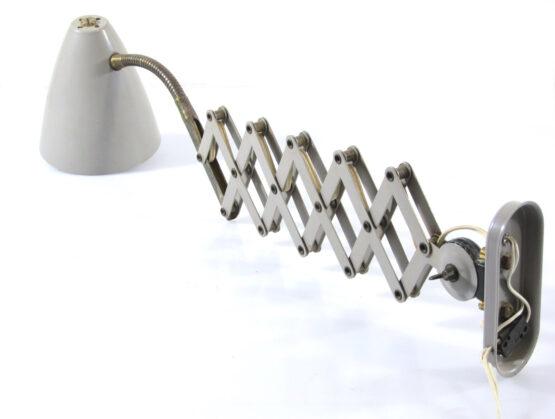 Fifties adjustable vintage wall lamp