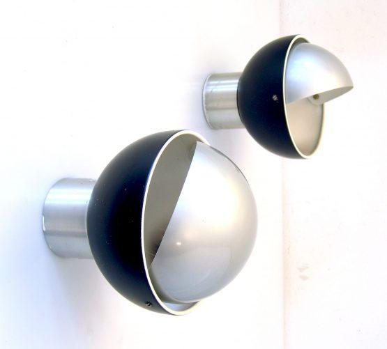 Raak C.1673 adjustable vintage metal sconce wall lamp - eames, poulsen, prouve, fog morup, henningsen, kalff, perriand, verner panton