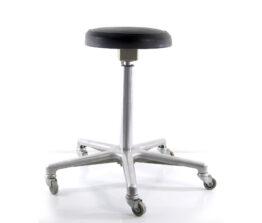 Sixties vintage adjustable aluminium dentist chair - Eames, Danish,, Jacobsen, Poul Henningsen, Hans Wegner