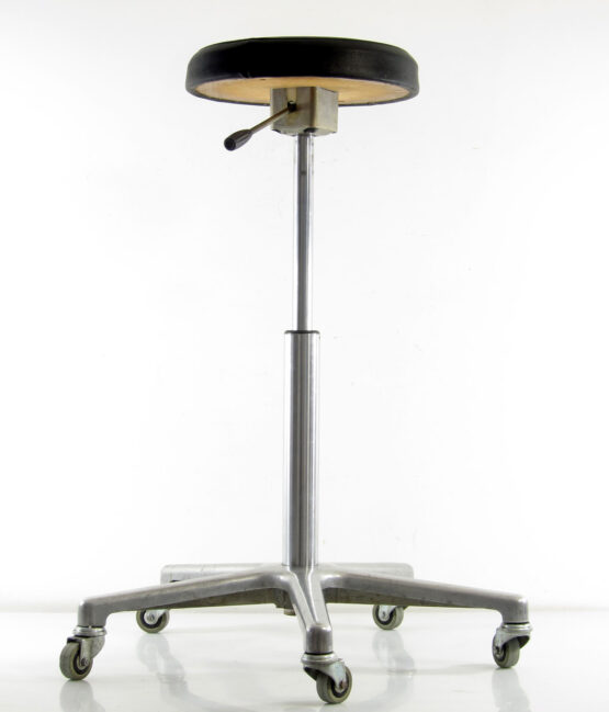 Sixties vintage adjustable aluminium dentist chair - Eames, Danish,, Jacobsen, Poul Henningsen, Hans Wegner