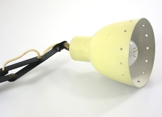 Yellow Bauhaus style vintage adjustable wall lamp
