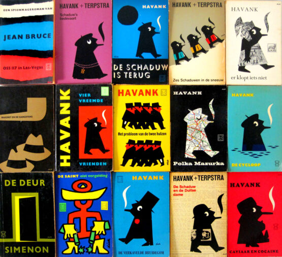 dick bruna vintage paperbacks 1960s - Georges Simenon, Maigret, Havank, Picasso, The Saint, Black Bear, Miffy