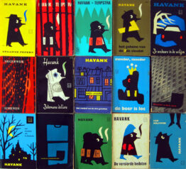 dick bruna vintage paperbacks 1960s - Georges Simenon, Maigret, Havank, Picasso, The Saint, Black Bear, Miffy