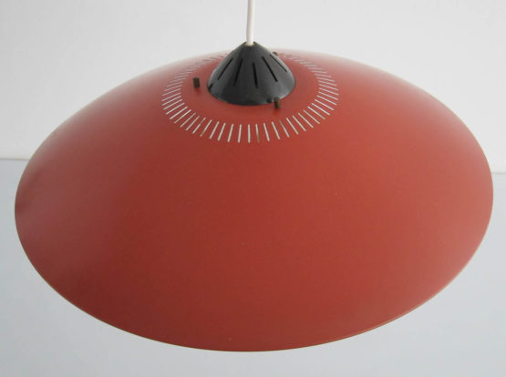 Philips Louis Kalff - Mid century - Red hanging lamp, Louis Weisdorf, Eames, Danish, Carl Thore, Tynell, Fog Morup, Poulsen, Henningsen