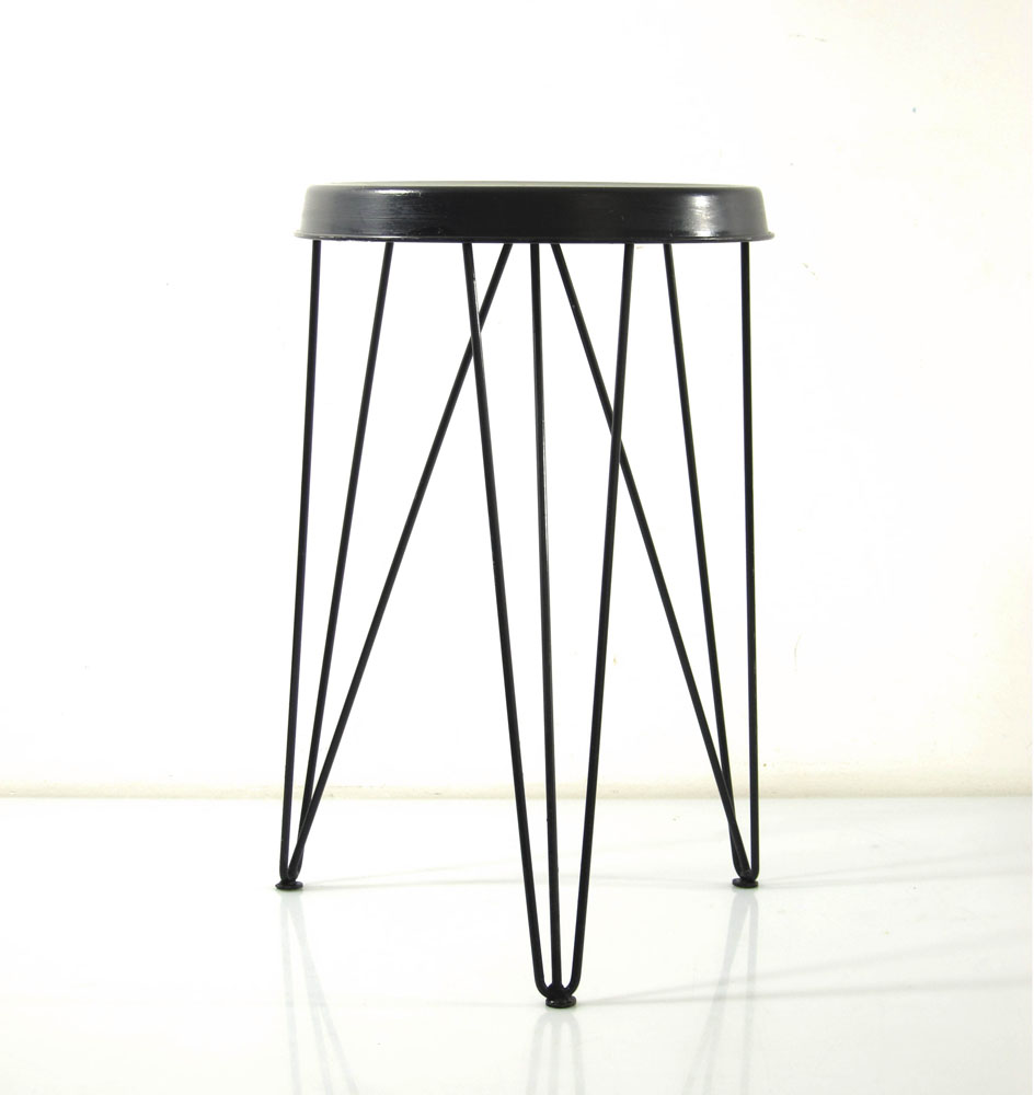 Pilastro black vintage Tjerk Reijenga sixties stool