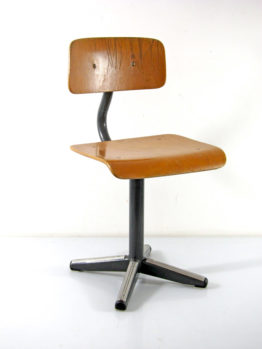 Childrens chair vintage plywood and metal fifties
