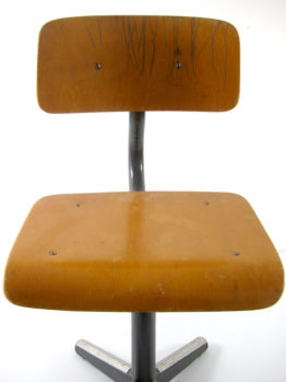 Childrens chair vintage wood fifties