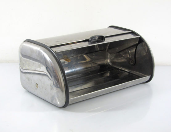 Vintage Brabantia sixties stainless steel bread bin