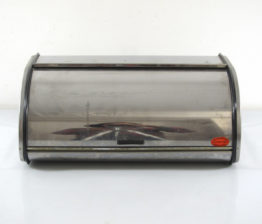 Vintage sixties metal stainless steel bread bin