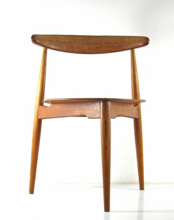 Hans Wegner FH 4103 Heart stoel - jaren vijftig, vintage, eames, grete jalk, arne jacobsen, tapiovaara, friso kramer, finn juhl, alvar aalto
