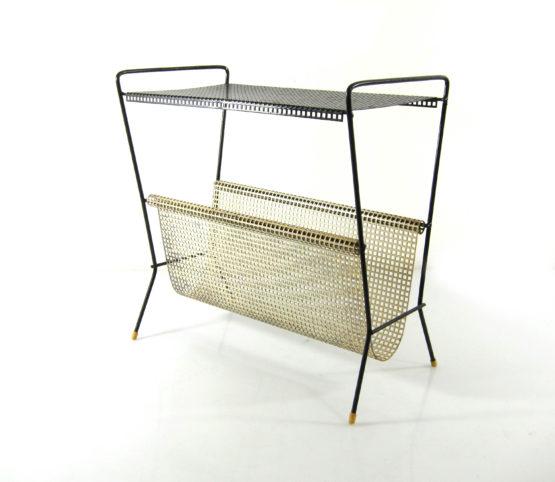 Tomado Mategot style white & black mid century side table, Eames, Pilastro, Fifties, mathieu mategot, jacques biny, mouille, pierre chareau