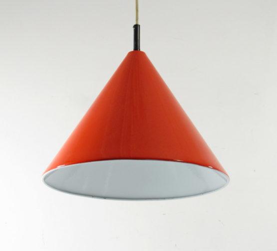 Arne Jacobsen Lamp Louis Poulsen 1960s vintage enamel Billiard pendant; Eames, Fifties, Henningsen, Aalto, Tapiovaara, Danish, Scandinavian
