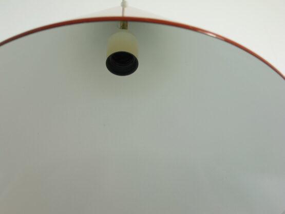 2 Orange vintage Danish billiard pendants - 1960s, eames, fifties, henningsen, aalto, tapiovaara, arne jacobsen, louis poulsen,scandinavian