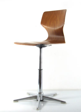 Desk chair vintage plywood chair 1960s; Arne Jacobsen, Verner Panton