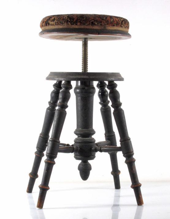 Dutch antique adjustable piano stool
