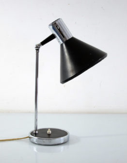 Italian sixties vintage chrome and black desk lamp