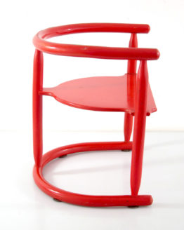 Red Karin Mobring vintage sixties children's chair