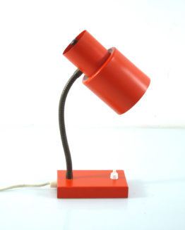 Orange sixties metal desk lamp