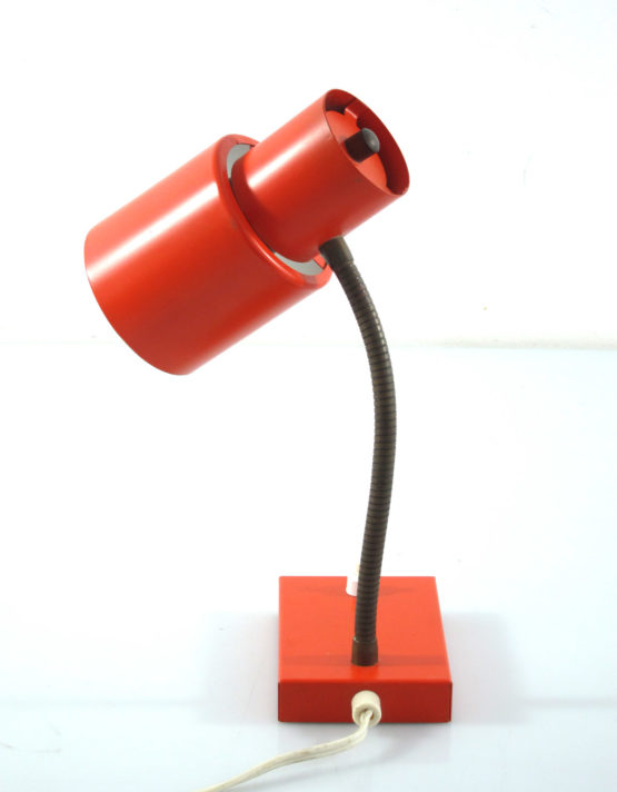 Orange sixties metal desk lamp