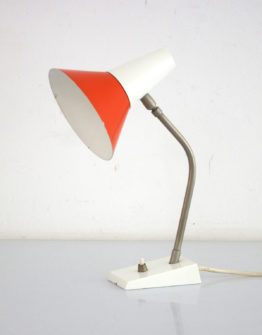 Red and white desk lamp sixties