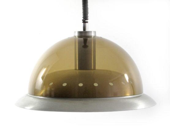 Seventies aluminium transparent vintage pendant