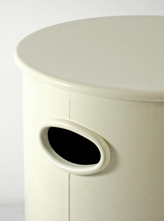 Seventies bathroom washing basket stool