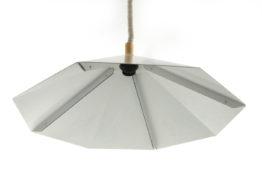Stealth minimal 1970s sheet metal lamp
