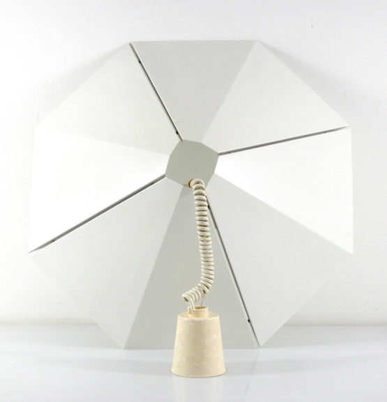 Stealth minimal 1970s sheet metal lamp