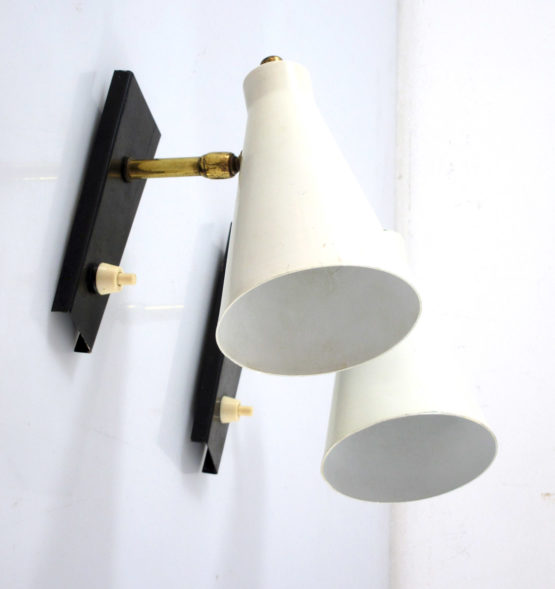 Stilnovo style fifties vintage wall lamps